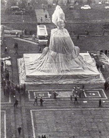 """Dahlagenturer - Christo & Jeanne-Claude """"W.M-6"""", 55x70cm"""