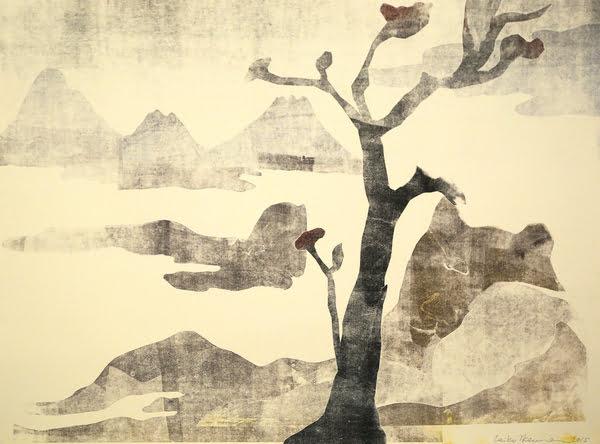 "Dahlagenturer - Leiko Ikemura ""Fuji 16"", 84x63cm"
