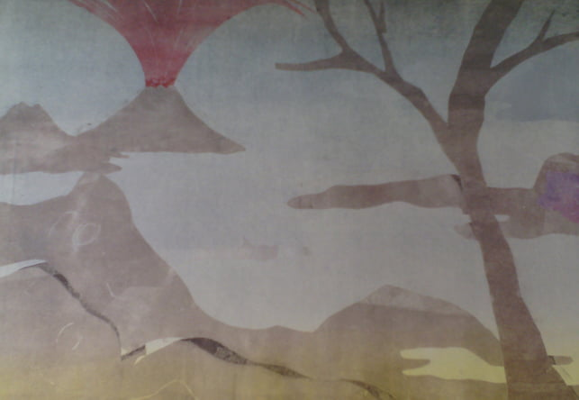 "Dahlagenturer - Leiko Ikemura ""Fuji 3"", 84x63cm"