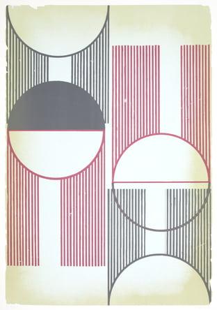 """Dahlagenturer - Regina Gimenez """"Sunrays 2"""", 70x100cm"""